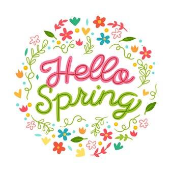 Letras com decoração colorida para a primavera