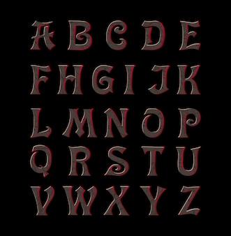 Letras corroídas vintage