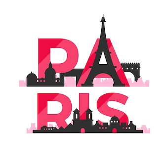 Letras da cidade de paris