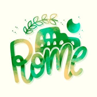 Letras da cidade de roma