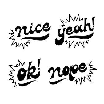 Letras da coleção de expressões