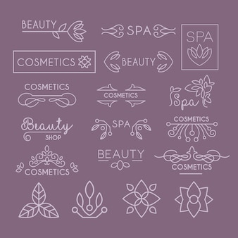 Letras da indústria de beleza e cachos