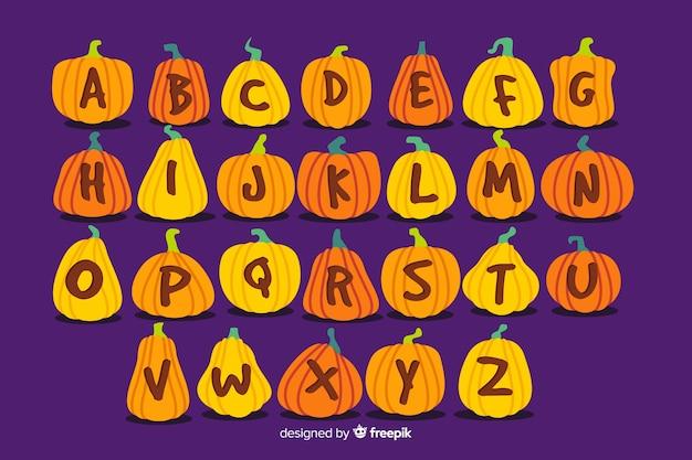 Letras de abóbora para o halloween