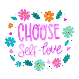 Letras de amor auto flores