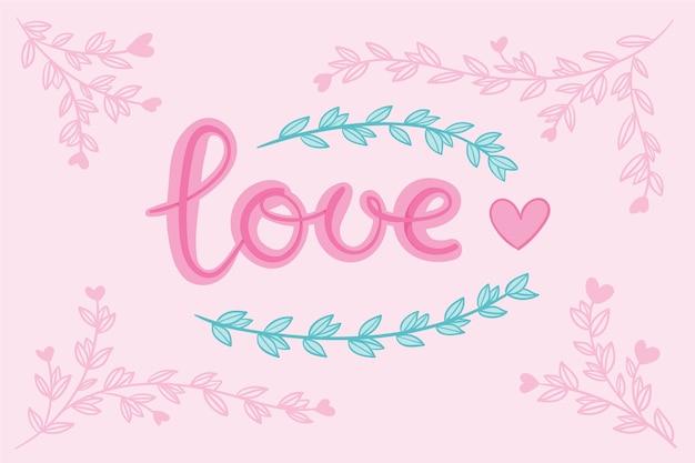 Letras de amor com coração