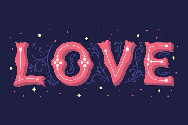 Letras de amor em estilo vintage