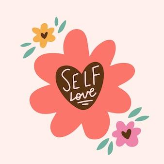 Letras de amor próprio com flores