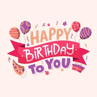 Letras de aniversário com balões