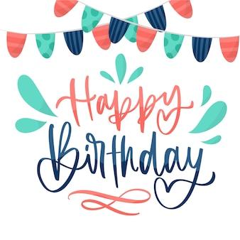 Letras de aniversário com fitas de festa