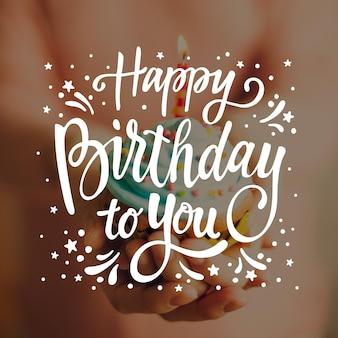 Letras de aniversário com foto