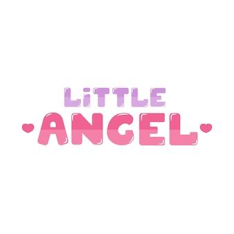 Letras de anjo pequeno