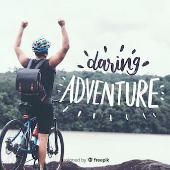 Letras de aventura com foto