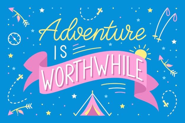Letras de aventura desenhadas à mão