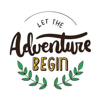 Letras de aventura