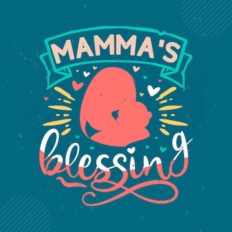 Letras de bênçãos da mamãe mama premium vector design