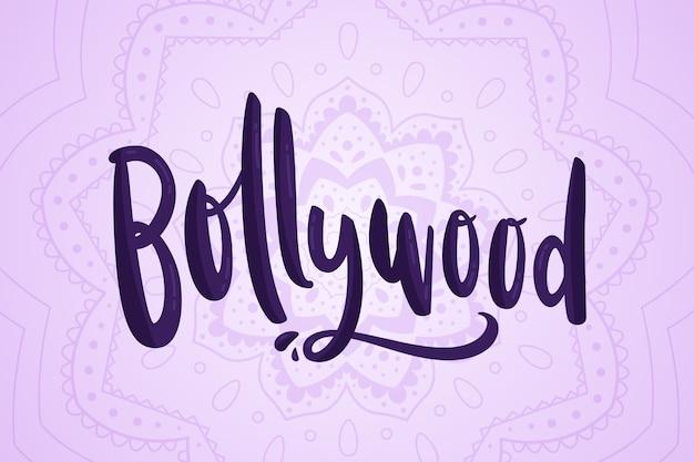 Letras de bollywood com fundo de mandala