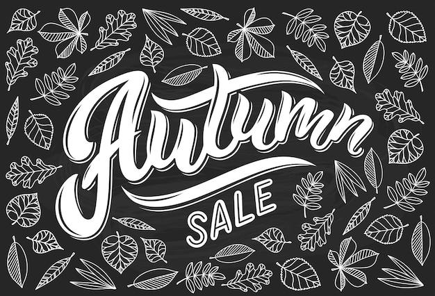 Letras de caligrafia venda outono