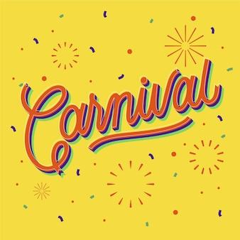 Letras de carnaval de design plano