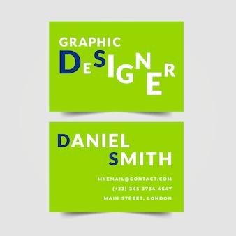 Letras de cartão de designer gráfico