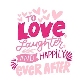 Letras de casamento bonito