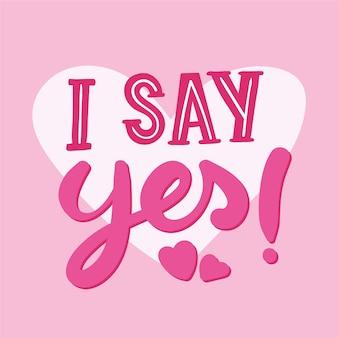 Letras de casamento com sim