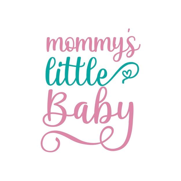 Letras de citação do bebê da mamãe