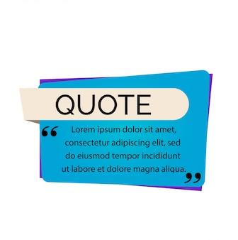 Letras de citação e texto.