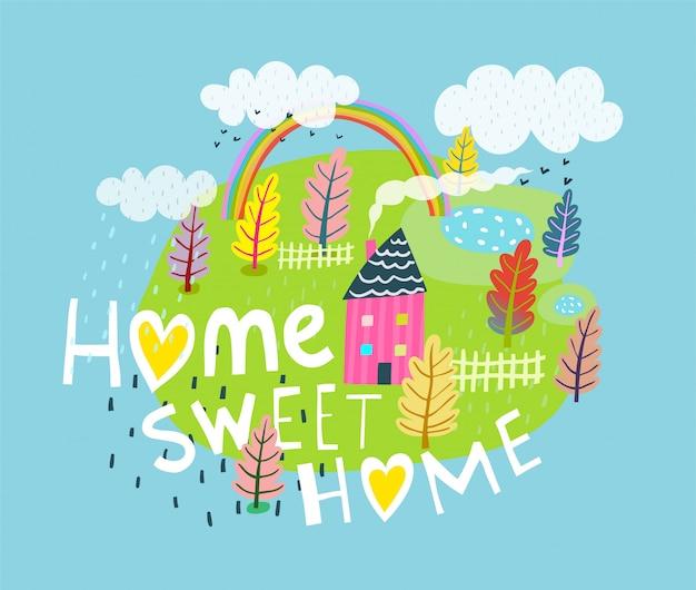 Letras de citações de lar doce lar