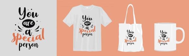 Letras de citações inspiradoras. design de camiseta, sacola e xícara para impressão