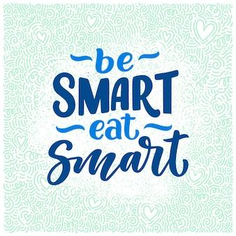 Letras de comida saudável para o projeto do banner
