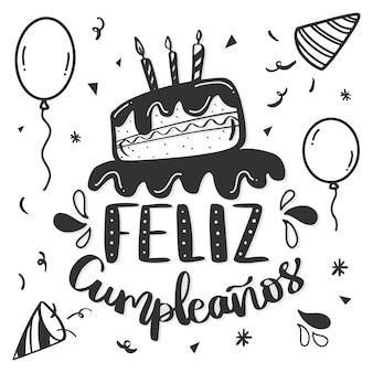 Letras de conceito de feliz aniversário
