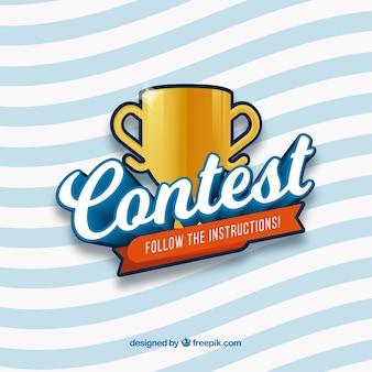 Letras de concurso moderno com design liso