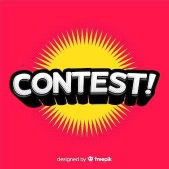Letras de concurso moderno com design plano