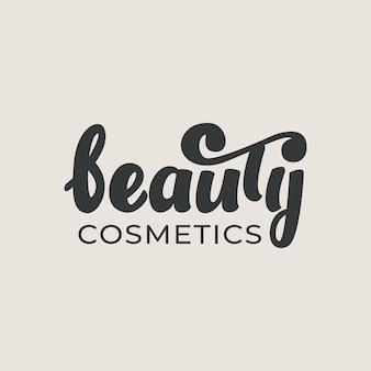 Letras de cosméticos de beleza