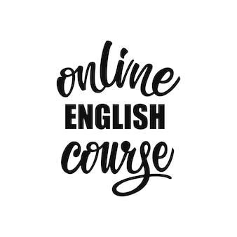 Letras de curso de inglês on-line