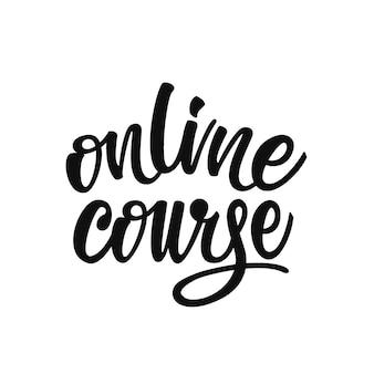Letras de curso on-line