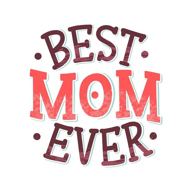 Letras de dia das mães para cartão presente tipografia vintage