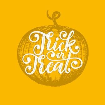 Letras de doces ou travessuras para o halloween