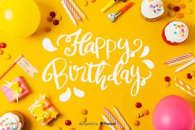 Letras de feliz aniversário com foto