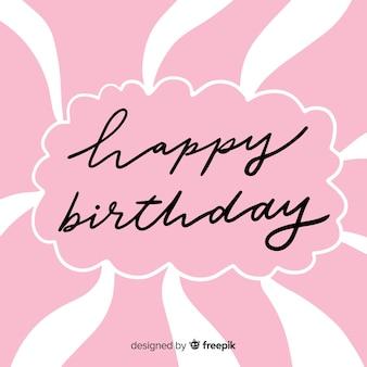 Letras de feliz aniversário linda