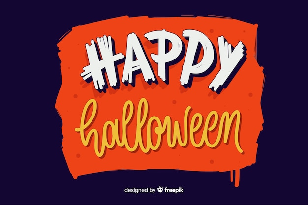 Letras de feliz dia das bruxas laranja
