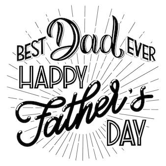 Letras de feliz dia do pai. design de cartão de saudação. texto de mão desenhada. elementos para convites, cartazes, cartões comemorativos. design de camisetas