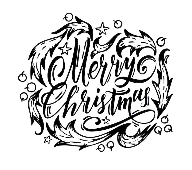Letras de feliz natal isoladas em branco