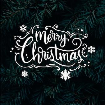 Letras de feliz natal na foto de natal