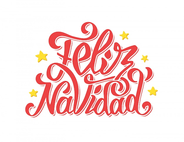 Letras de feliz navidad. saudações de feliz natal