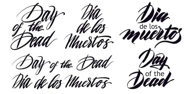 Letras de férias, citações em espanhol significam dia dos mortos