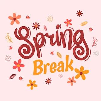 Letras de férias de primavera linda