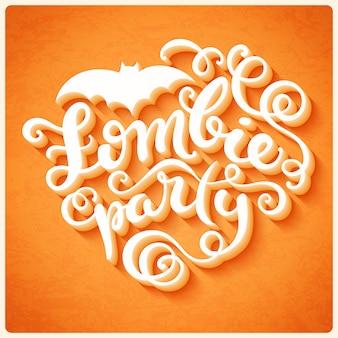 Letras de festa de zumbi para o halloween