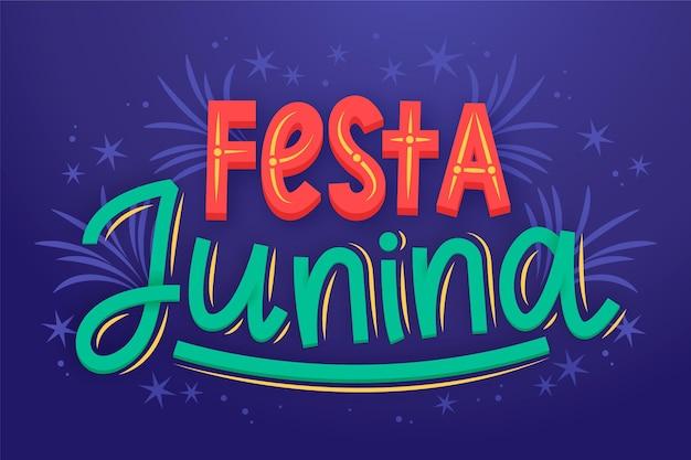 Letras de festa junina desenhada à mão