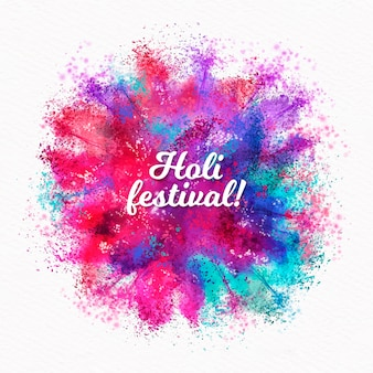 Letras de festival holi aquarela